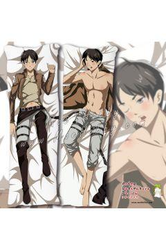Attack On Titan Eren Jaeger Anime Dakimakura Japanese Hugging Body Pillow Cover Case 02