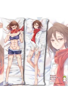 Attack On Titan Mikasaackerman 2 Anime Dakimakura Japanese Hugging Body Pillow Cover