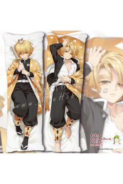 Demon Slayer Agatsuma Zenitsu Anime Dakimakura Japanese Hugging Body Pillow Cover 19097-1