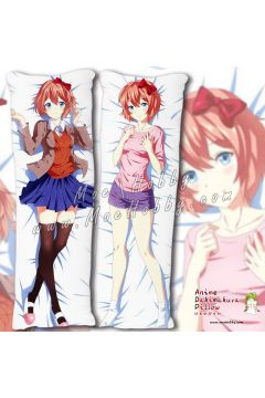 Doki Doki Literature Club Sayori Anime Dakimakura Japanese Hugging Body Pillow Cover