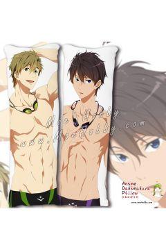 Free! Nanase Haruka Tachibana Makoto Anime Dakimakura Japanese Hugging Body Pillow Cover