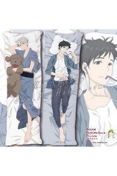 Katsuki Yuri YURI!!! on ICE Anime Dakimakura Japanese Hugging Body Pillow Cover Case 1992301-1