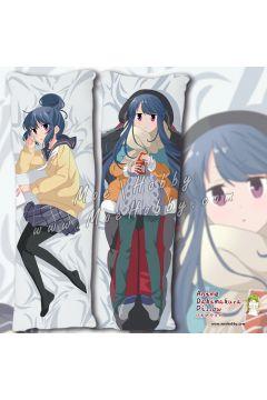 Laid Back Camp Shima Rin Anime Dakimakura Japanese Hugging Body Pillow Cover