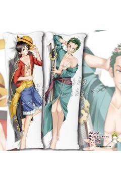 One Piece Monkey D. Luffy Roronoa Zoro Anime Dakimakura Japanese Hugging Body Pillow Cover