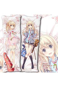 Your Lie In April Miyazono Kaori Anime Dakimakura Japanese Hugging Body Pillow Cover Case 02