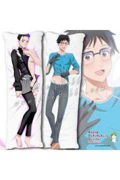 Yuri!!! On Ice Katsuki Yuri 1 Anime Dakimakura Japanese Hugging Body Pillow Cover