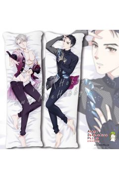 Yuri!!! On Ice Victor Nikiforov Katsuki Yuri 3 Anime Dakimakura Japanese Hugging Body Pillow Cover